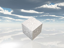 Maze cube on white Stock Photos