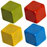 Maze cubes Stock Images