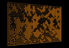 Maze 3D concept Royalty Free Stock Photo
