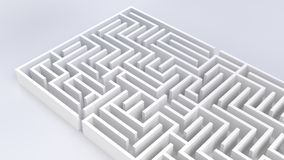 Maze labyrinth business challenge strategy 3D illustration royalty free illustration