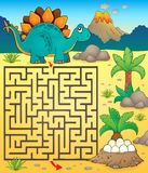Maze 3 with dinosaur theme 1 Royalty Free Stock Photos