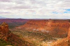 Maze District av den Canyonlands nationalparken, Utah Arkivbilder