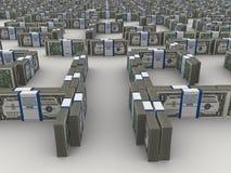 Maze of dollars Royalty Free Stock Photo