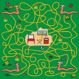 Maze -earthworms Stock Image