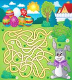 Maze 4 with Easter theme Royalty Free Stock Photography