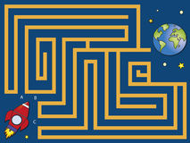 Maze. Easy maze for small children Stock Photography