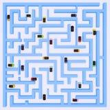 maze för 2 bilar Arkivbilder