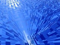 maze för blue 3d Royaltyfri Illustrationer