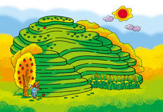 Terraces maze Royalty Free Stock Images