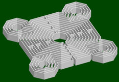 Maze fortress 3D Royalty Free Stock Photo