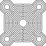 Maze fortress white. Maze fortress labyrinth graphic problem Stock Images