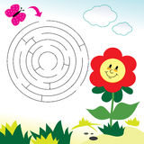 Maze game. For children: Help the butterfly find the way to the flower Stock Photo