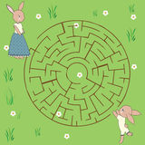 Maze game: animals theme Royalty Free Stock Images