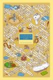 Maze Game avec des tubes, des valves et la génie sanitaire Images libres de droits