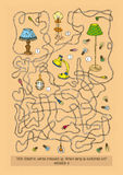 Maze Game avec différentes lampes Photo stock