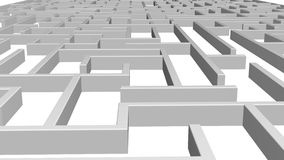 Maze Game background. Labyrinth with Entry and Exit. stock footage