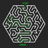 Maze Game background. Labyrinth with Entry and Exit. Royalty Free Stock Photography