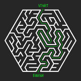 Maze Game background. Labyrinth with Entry and Exit. Stock Photo