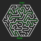 Maze Game background. Labyrinth with Entry and Exit. Stock Photography