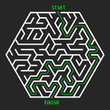 Maze Game background. Labyrinth with Entry and Exit. Royalty Free Stock Photo