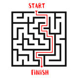 Maze Game background. Labyrinth with Entry and Exit. Stock Image