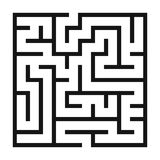 Maze Game background. Labyrinth with Entry and Exit. Stock Photos