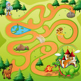 Maze Game Stock Photography