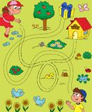 Maze game for children stock illustration