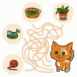 Maze Game for children (cat) Royalty Free Stock Photography