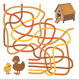 Maze game. Game for children: Maze game (ducks and home Stock Photography