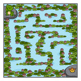Maze game for children, Frog and crown Royalty Free Stock Photo