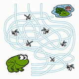 Maze Game for children (frog) Stock Photos