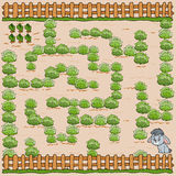Maze game for children. Help bunny get to the carrot Stock Images
