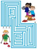 Maze game for children Stock Image
