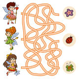 Maze game for children (little fairy) Stock Photo