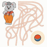 Maze game for children (rabbit) Stock Photography