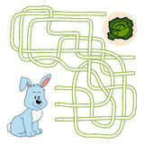 Maze game for children (rabbit and cole) Stock Photography