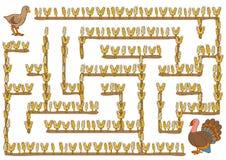 Maze game for children, Turkey. Maze game, education game for children, Turkey Stock Photo