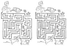 Maze game for children vector Royalty Free Stock Images