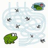 Maze Game för barn (grodan) Arkivfoton