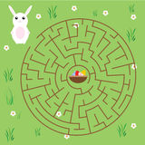 Maze Game For Children. Fairytales Theme. Help Bunny Find Way To Easter Eggs Stock Photos