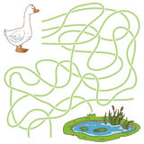 Maze game (goose and pond) Stock Images