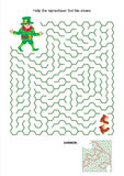 Maze game - help leprechaun find his shoes Stock Photography