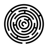 Maze game illustration Royalty Free Stock Image