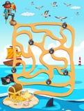 Maze game stock illustration