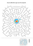 Maze game for kids Stock Photos