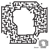 Maze Game for kids Royalty Free Stock Images
