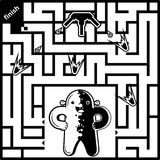 Maze Game for kids Royalty Free Stock Photo