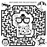 Maze Game for kids Royalty Free Stock Photography