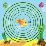 Maze game for kids Stock Photography